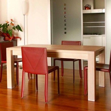 Mesa de design extensível em madeira de carvalho, L160 / 260xP90cm, Jacob