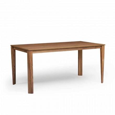 Mesa extensível de design com base de madeira de freixo, fabricada em Itália, Medicina