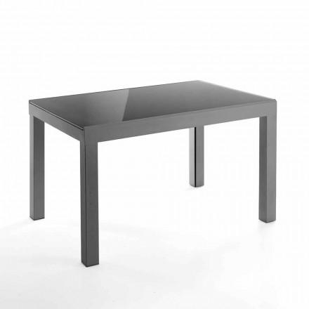 Mesa extensível de design em vidro e metal - Guerriero