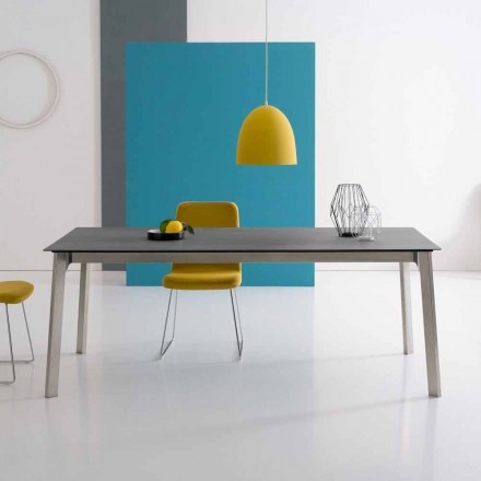 Mesa extensível de design em alumínio, fabricada na Itália - Arnara