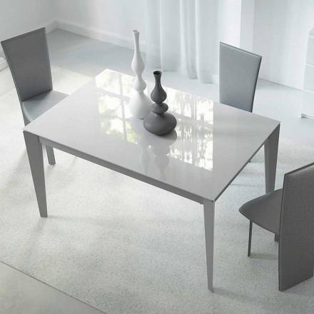 Mesa Extensível Até 220 cm em Vidro e Aço Made in Italy - Numana