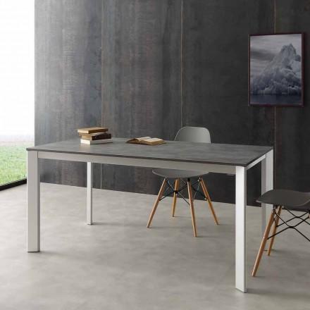 Mesa de jantar extensível Urbino, feito de alumínio e Hpl