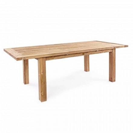 Homemotion - Hunter Mesa extensível em madeira de teca para jardim Até 250 cm