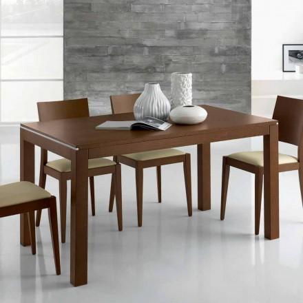 Mesa extensível de design até 350 cm em madeira de freixo Made in Italy - Ketla