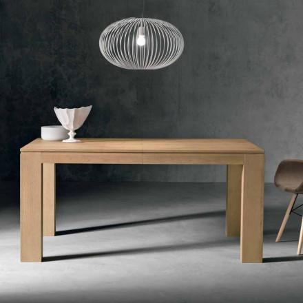 Mesa extensível de design em madeira de carvalho fabricada na Itália, Sondrio