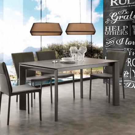 Mesa de jantar extensível Filadelfia, design moderno