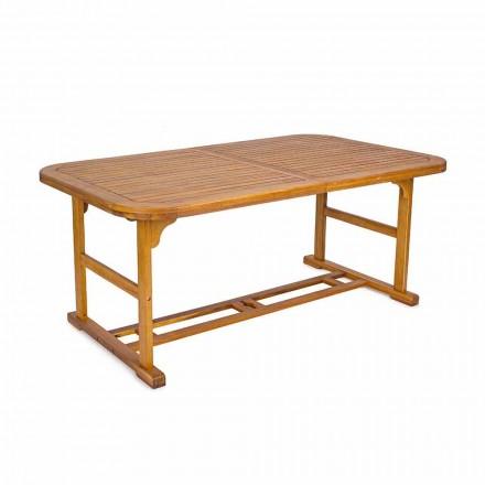 Mesa extensível até 240 cm em madeira de jardim, de design - Roxen