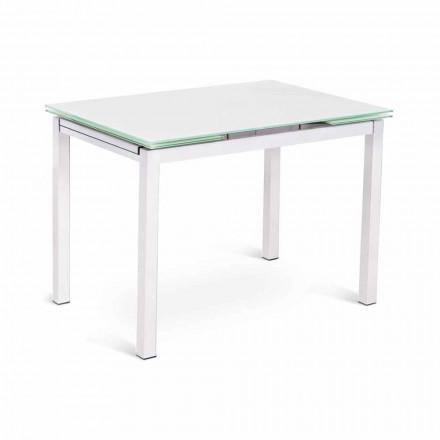Mesa extensível de design moderno até 200 cm em vidro e metal - carimbo