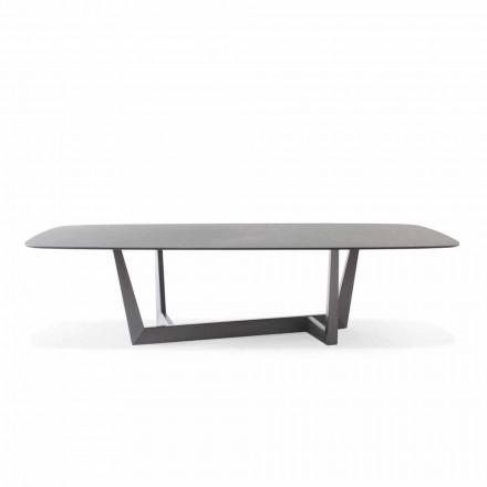 Mesa de cozinha de chumbo em cerâmica e metal fabricada na Itália - Art