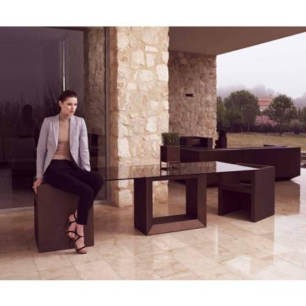 Mesa ao ar livre Vela 200x100 cm por Vondom, em resina de polietileno