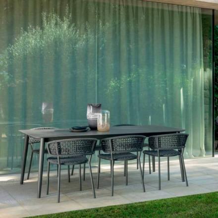 Mesa ao ar livre Moon Alu extensível até 3mt por Talenti, com cerâmica