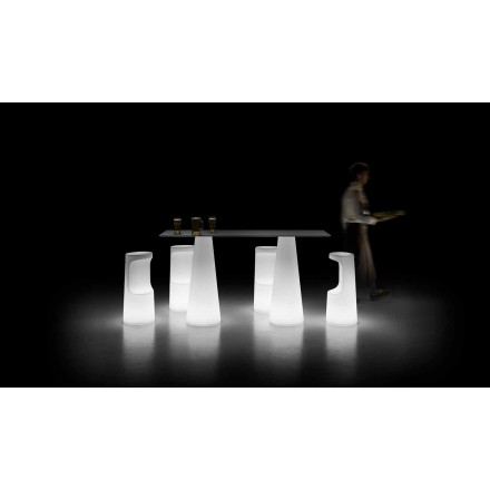 Mesa Outdoor Design com Base Luminosa com Luzes LED Made in Italy - Forlina