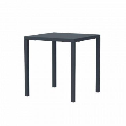 Moderna mesa empilhável de metal quadrada para exterior, fabricada em Itália - Aila