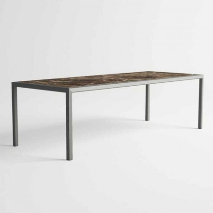 Mesa ao ar livre em alumínio de design moderno para jardim - Mississippi2
