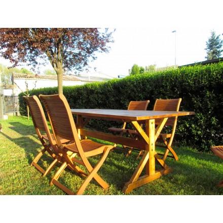 Mesa de madeira de abeto estilo rústico fabricada na Itália - Clinio