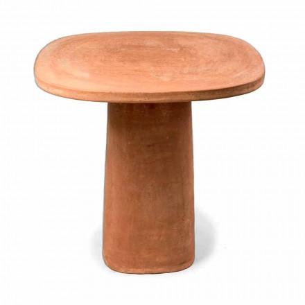 Mesa externa quadrada de terracota 70x70 cm Fabricado na Itália - Yulia