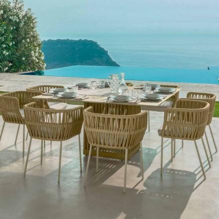 Mesa quadrada ao ar livre 150cm em alumínio Talenti by Palomba