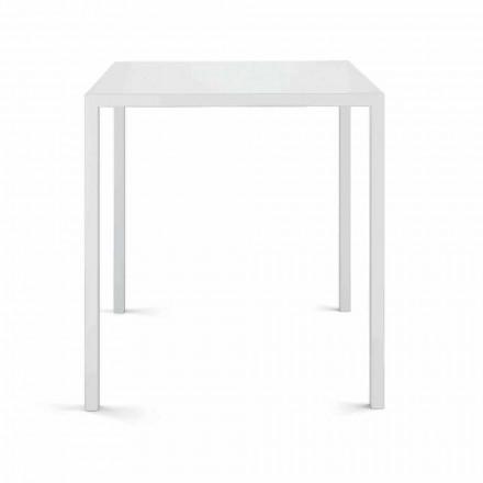 Mesa quadrada para exterior, fabricada em Itália - Bento