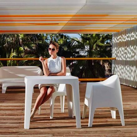 Mesa quadrada ao ar livre Sólida por Vondom em polipropileno, design moderno