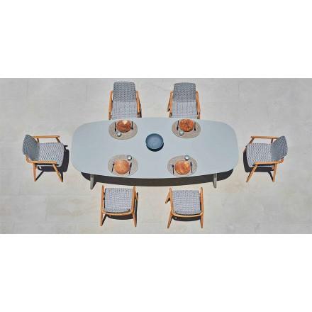 Mesa de design ao ar livre em alumínio colorido Ellisse by Varaschin