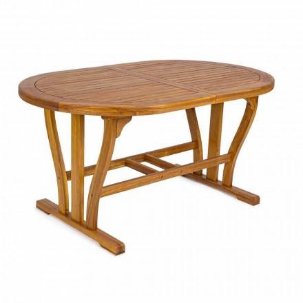 Mesa de jardim extensível até 200 cm oval em madeira - Roxen