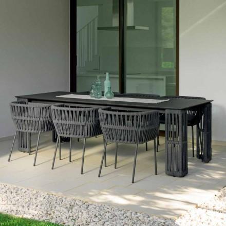 Mesa de jardim de palha extensível até 300cm, Talenti by Palomba
