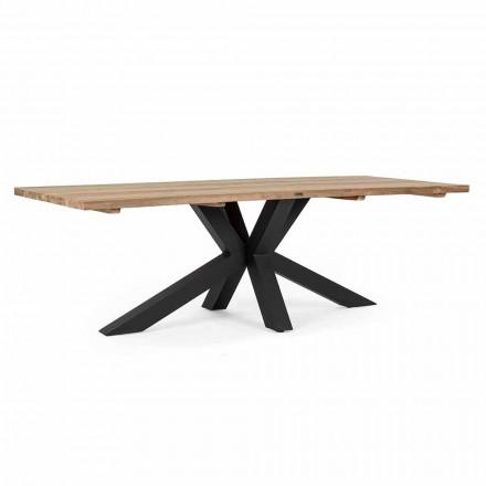 Mesa de jardim com tampo em madeira de teca por Homemotion - Cowen Design