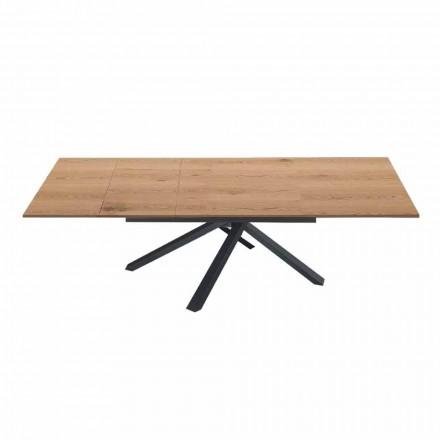 Mesa de Jantar extensível a 260 cm em Madeira Design Moderno - Gabicce