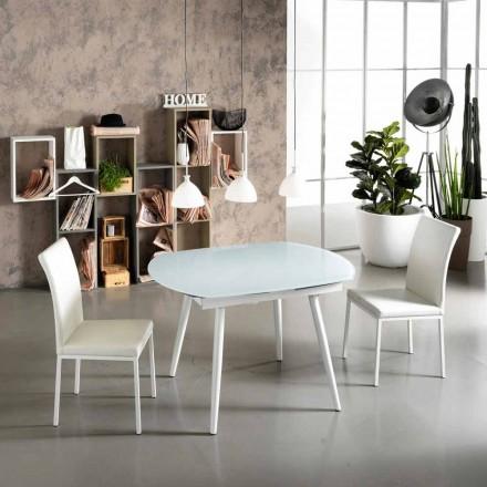 Mesa extensível de jantar com tampo de vidro Japan New