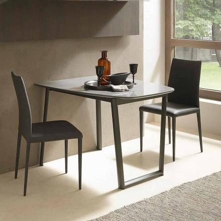 Mesa Extensível de Jantar Até 170 cm em Cerâmica Made in Italy - Tremiti