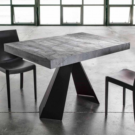Mesa de Jantar Extensível Até 220 cm com Tampo em Melamina - Amiro