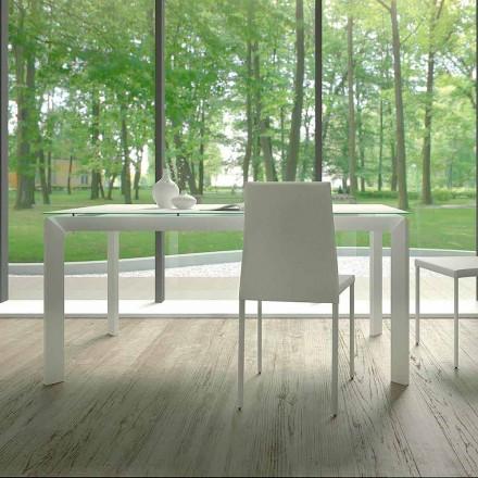 Mesa de Jantar Extensível Até 220 cm em Vidro Made in Italy - Macchia