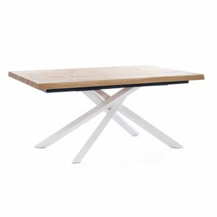 Mesa de Jantar Extensível Até 240 cm em Madeira Made in Italy - Xino