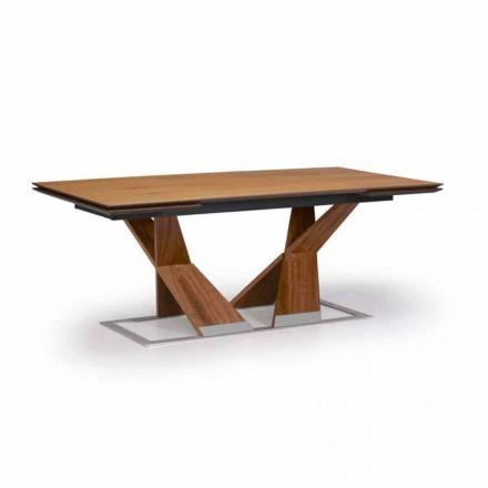Mesa de Jantar Extensível Até 294 cm em Madeira Made in Italy - Monique