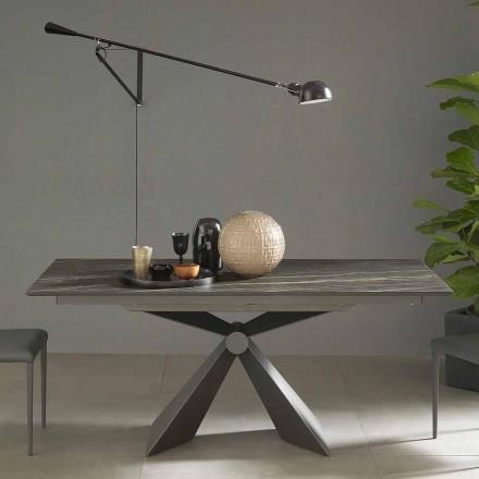 Mesa de Jantar Extensível Até 298 cm em Cerâmica Made in Italy - Anaconda