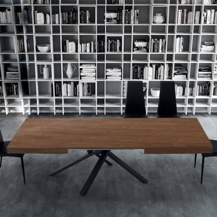 Mesa de Jantar Extensível até 310 cm em Madeira e Aço - Argentario