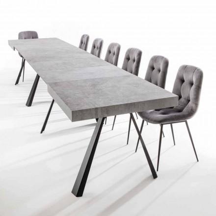 Mesa de Jantar Extensível Até 500 cm com Tampo em Melamina - Raimondo