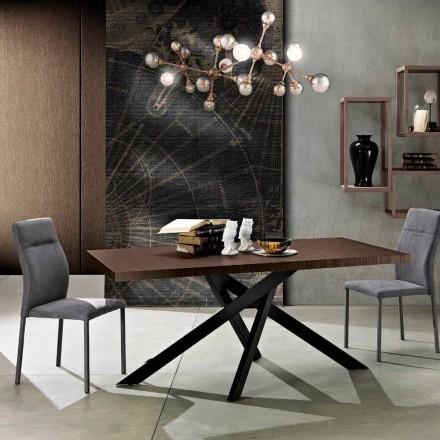 Mesa de jantar extensível em madeira de melamina feita na Itália, Dionigi