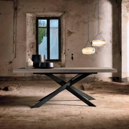 Mesa de jantar extensível em madeira de carvalho L315 cm made in Italy, Oncino