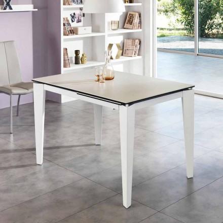 Mesa de jantar extensível em vitrocerâmica, 120 / 170xP80 cm, Bino