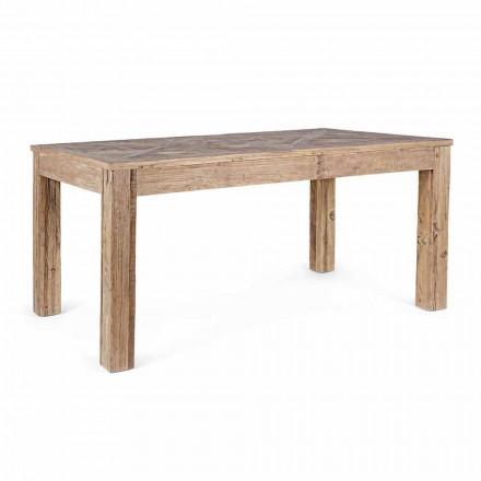 Mesa de Jantar Homemotion com Tampo e Pernas em Elm Wood - Elm