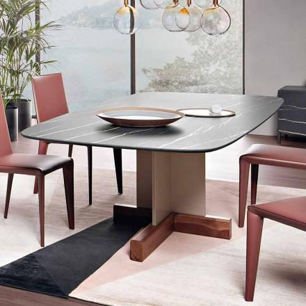 Mesa de Jantar com Tampo de Cerâmica Made in Italy - Bonaldo Cross Table