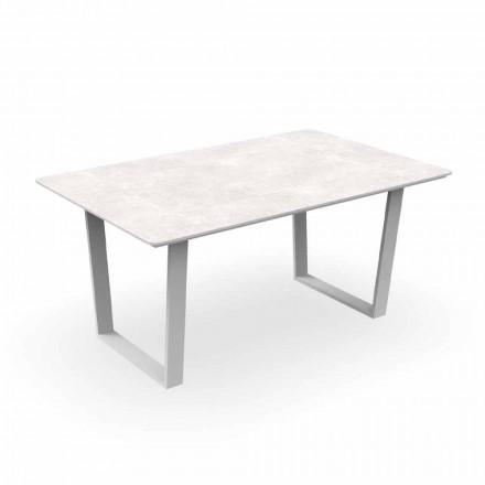 Mesa de jantar moderna em alumínio e Gres - Alabama Alu Talenti