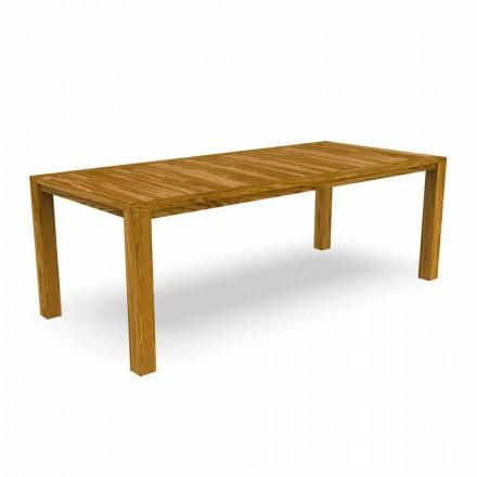 Mesa de jantar moderna em madeira de castanheiro - Ebi by Talenti