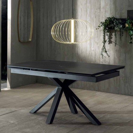 Mesa de jantar extensível de design com tampo de cerâmica até 240 cm - Ultron