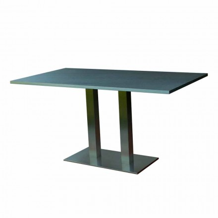 Mesa de jantar design com tampo de pedra laminada, 160x90cm, Newman