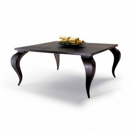 Design de luxo de madeira maciça mesa de jantar Filo, made in Italy