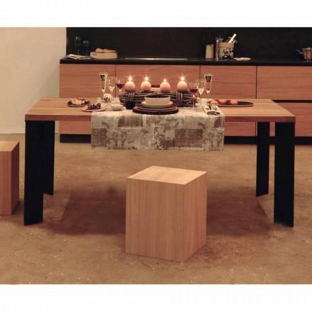 Mesa de jantar design em design de nogueira natural, L200xP100cm, Yvonne