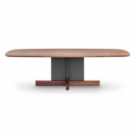 Mesa de Jantar Design com Base Cruzada Made in Italy - Bonaldo Cross Table