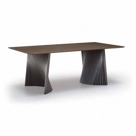 Mesa de Jantar de Alta Qualidade em Gres e Ash Made in Italy - Charol